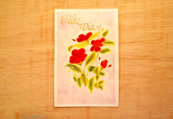 como hacer una tarjeta de flores acuarela
