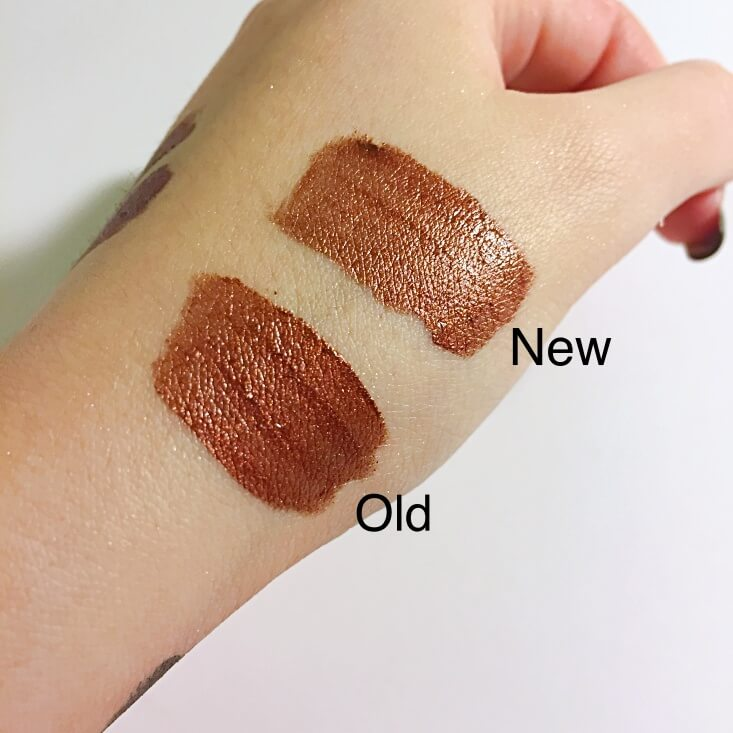 wet n wild megalast Liquid Catsuit Metallic Lipstick Once In a Bronze Moon vs Coral Crown swatches