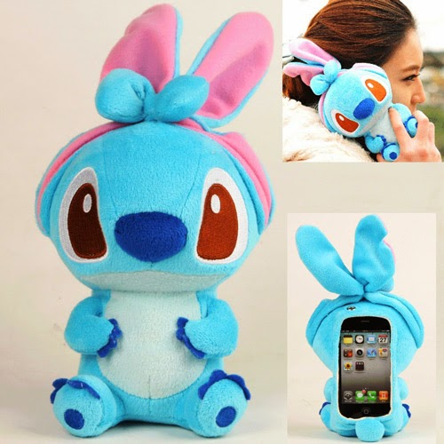 Blue Stitch plush iPhone 4/5 case