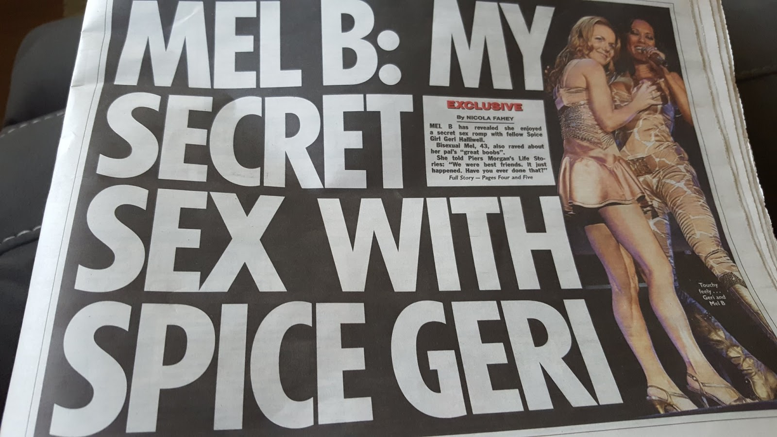 Spice Girl Mel B reveals she had sex with bandmate Ginger Spice