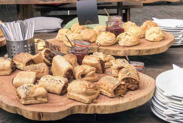 West Cork food: Savory puffed pastries from Kalbos Cafe in Skibbereen