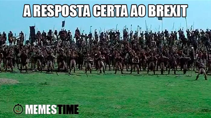 Meme Imagem do Filme Braveheart – A resposta certa ao Brexit