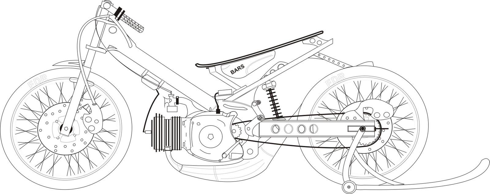 Gambar Motor Drag Mewarnai