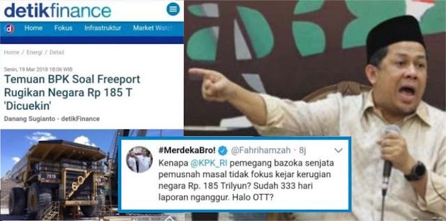 Nah lho! Temuan BPK Soal Freeport Rugikan Negara Rp 185 T 'Dicuekin', Fahri 'Hajar' KPK