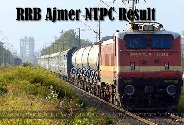 RRB Ajmer NTPC Result
