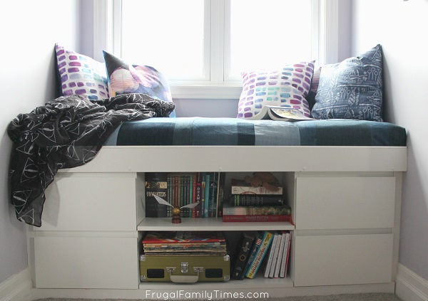 window seat with drawers from ikea cabinets