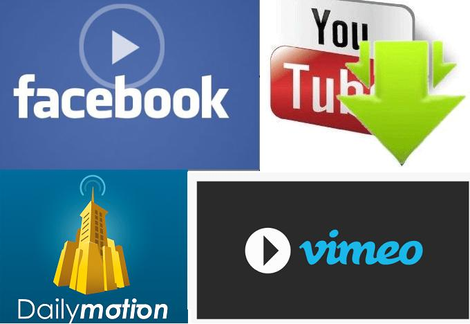 Fastest ways for download Facebook, Youtube, dailymotion & vimeo