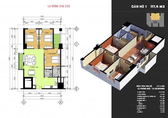 mặt bằng căn hộ chung cư 317 trường chinh