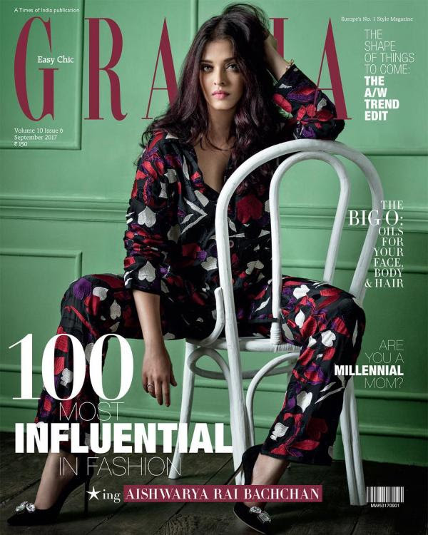 Aishwarya Rai Sizzles on Grazia September 2017 Issue