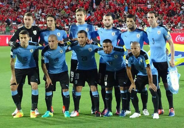 Formación de Uruguay ante Chile, Clasificatorias Rusia 2018, 15 de noviembre de 2016
