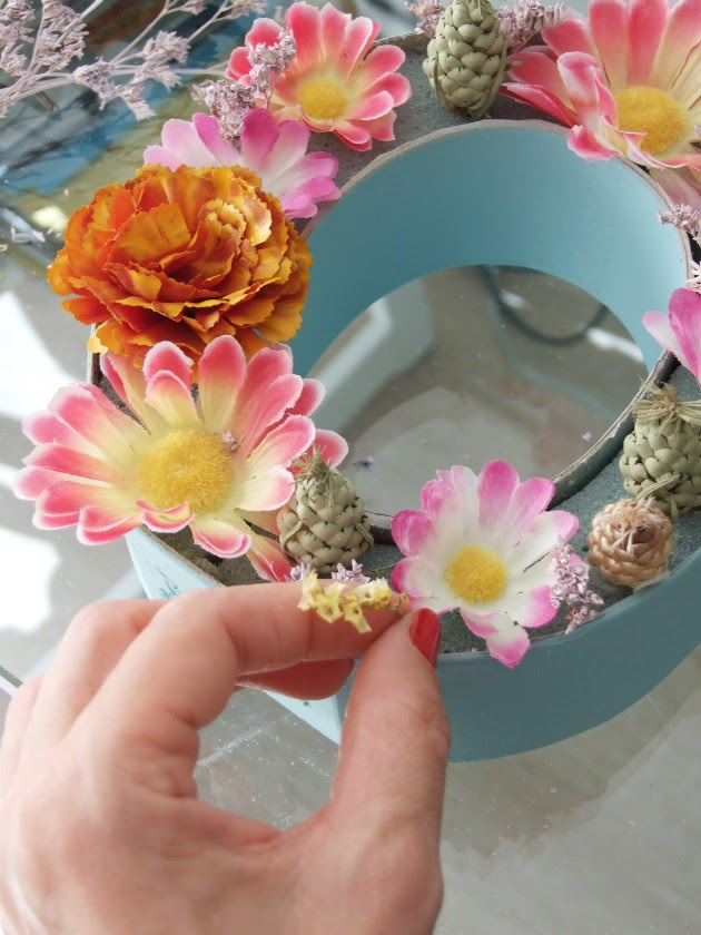 diy letras flores secas