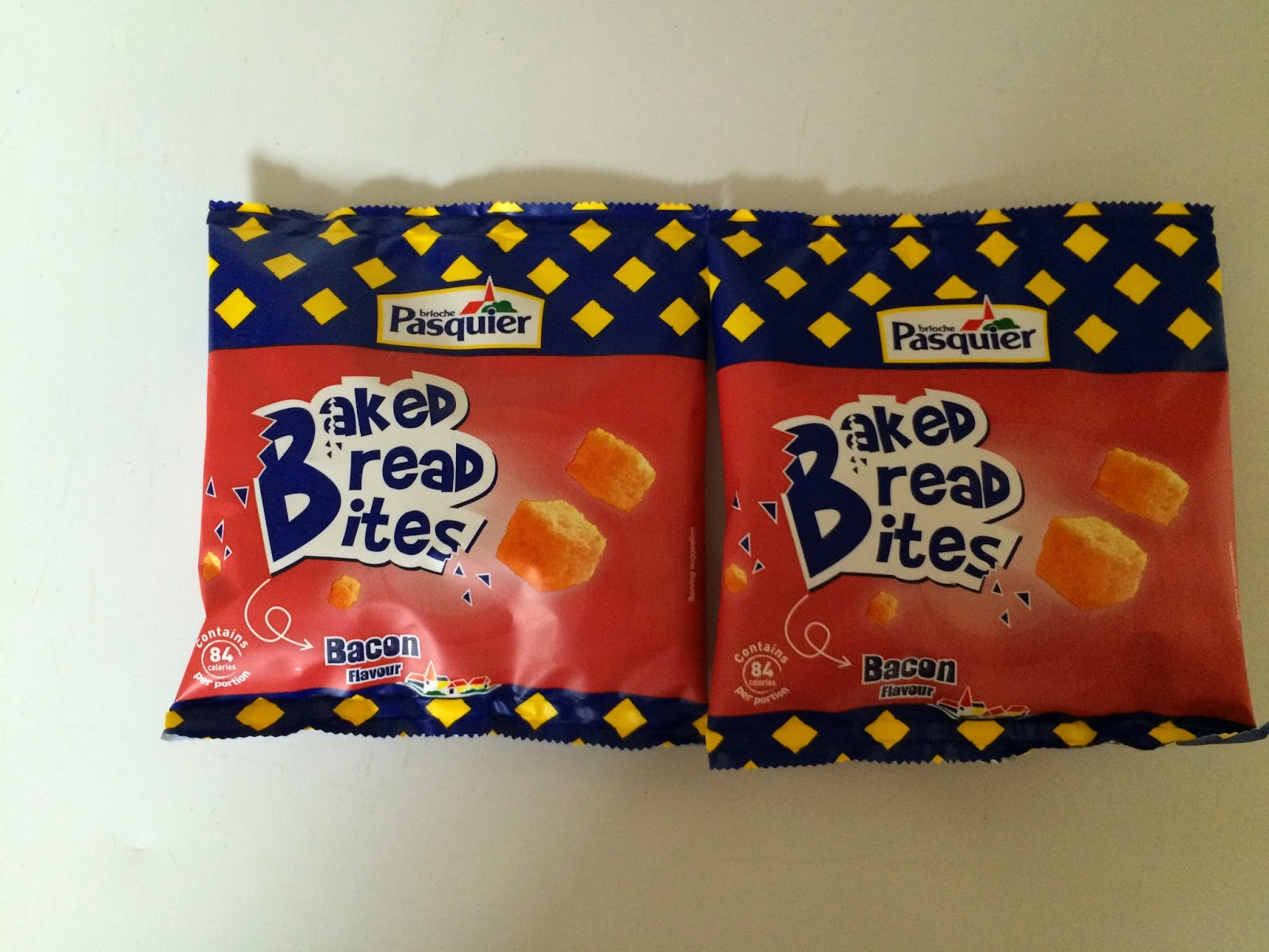 two packets of bread bites
