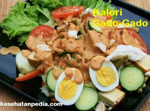 Kalori Gado-Gado Sayur Tanpa Lontong / Nasi
