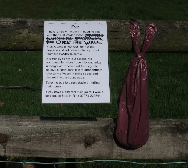 Reply to notice about dog fouling with sample.