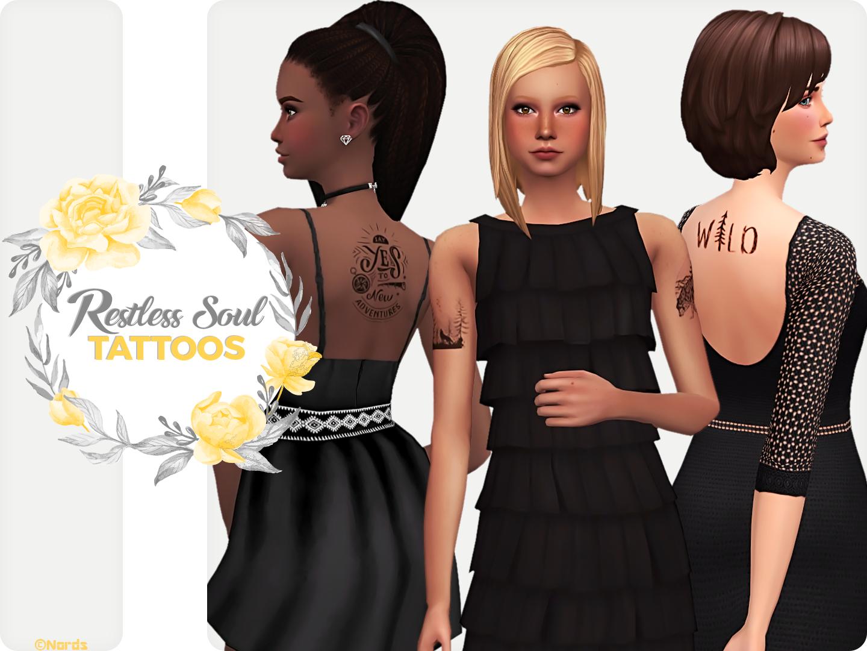Restless Soul Sims 4 CC Tattoos