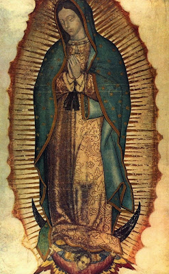 Our Lady of Guadalupe's image on St. Juan Diego's tilma