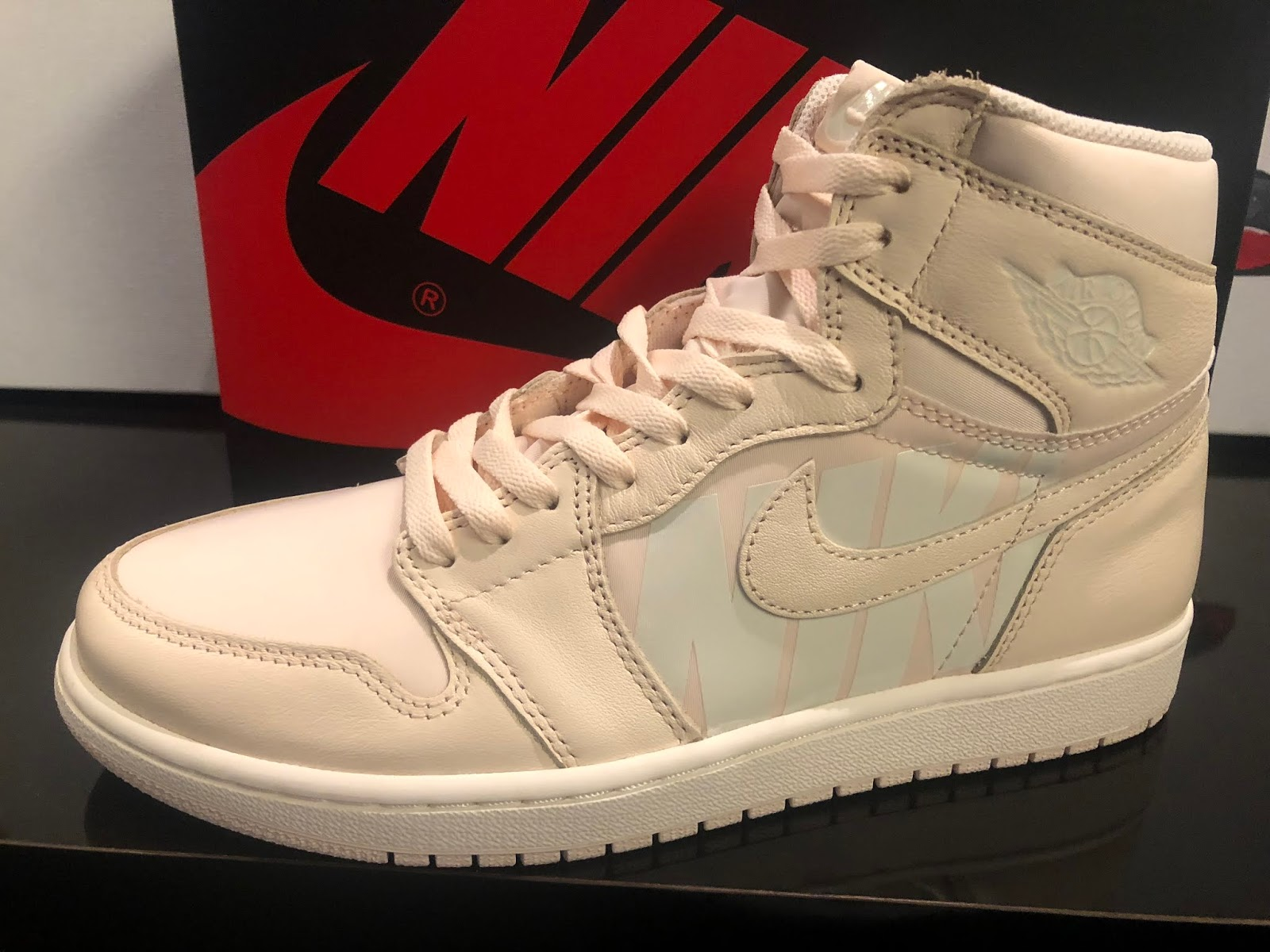 47c61a98faa4f7 Air Jordan 1 Logo Pack  guava ice  drops this saturday 9 1. First come  first served.  160 plus tax sizes 9-13