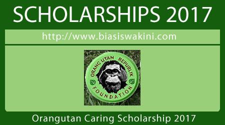 Orangutan Caring Scholarship 2017