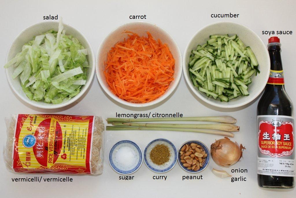 la cuisine des soeurs miam miam bo bun salade de vermicelle au boeuf. Black Bedroom Furniture Sets. Home Design Ideas