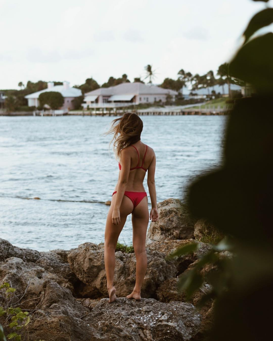 Melissa in her Tangled Bikini Top and Tangled Bikini Bottom in Valentine at Jupiter, Florida