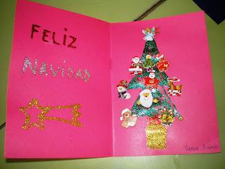 Maestra de infantil tarjetas de navidad hechas por ni os - Tarjetas de navidad hechas por ninos ...