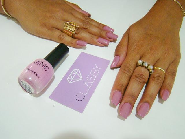 Inspiração de esmalte para o Outubro Rosa: YNC Hortense