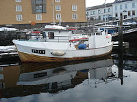 Sjark i Ravnkloa, Trondheim. Fri bruk, wikimedia