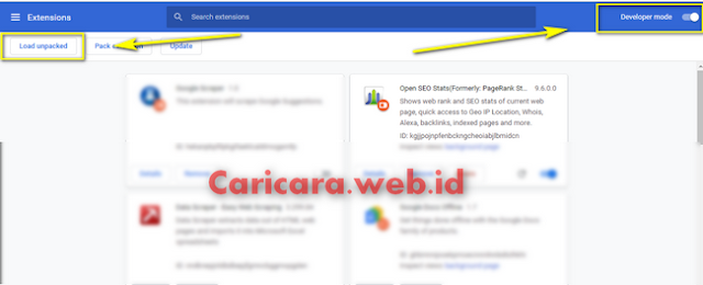 Memasang Extension Chrome Secara Manual