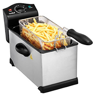 Stainless Steel 3L Pro Deep Fat Fryer Heatproof Handles Easy And Safe To Use