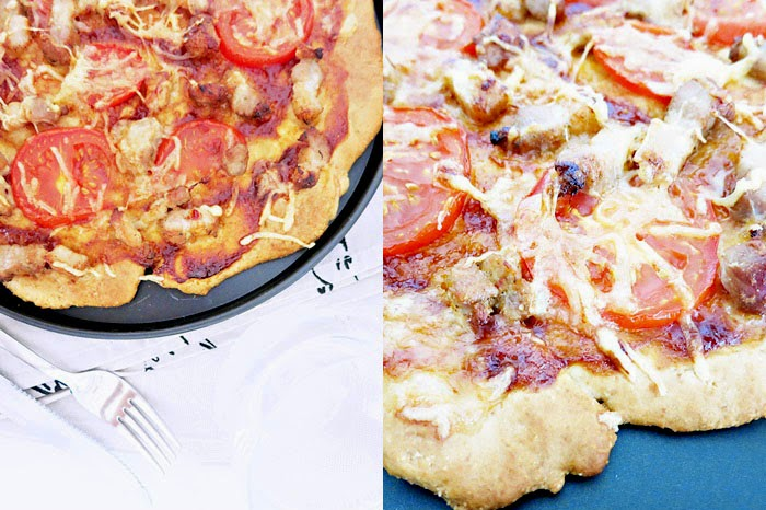 BBQ Pizza [ohne Hefe]