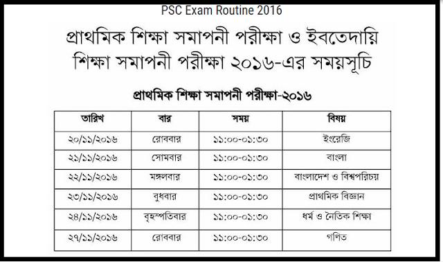 PSC-Exam Routine-2016