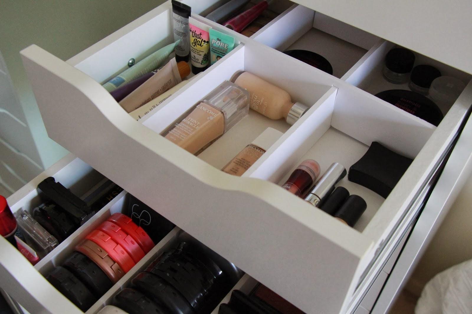 Diy Makeup Drawer Storage - Makeup Vidalondon