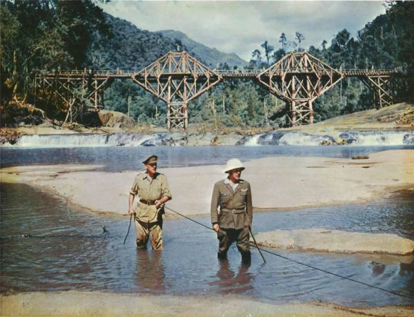 Alec Guinness and Sessue Hayakawa in The Bridge on the River Kwai