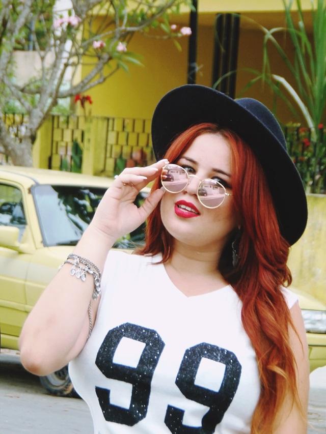 Look do dia, blogueira de moda, Phany Pinheiro Ruiva, Redhair, blogueira brasileira, Look of the day, brazilian, moda, fashion, esportivo, blog de moda para gordinhas, plussize, model plussize, moda para gordinhas,