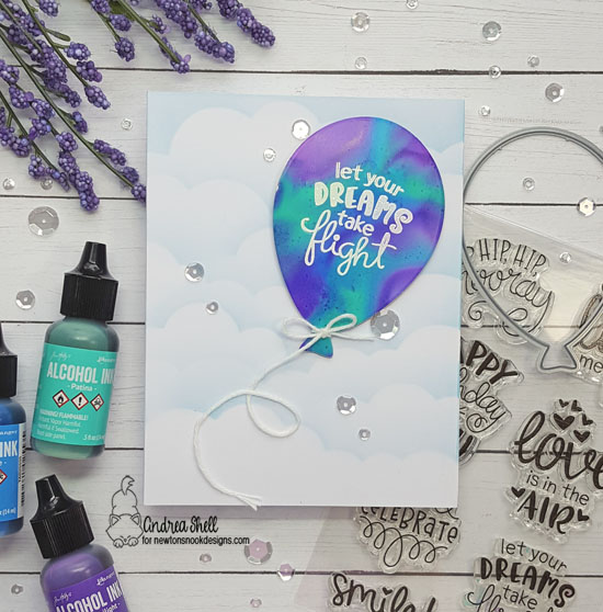 Let your dreams take flight by Andrea features Balloon Shaker and Uplifting Wishes by Newton's Nook Designs; #newtonsnook