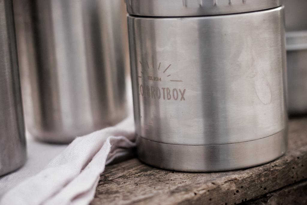Lunchbox aus Edelstahl