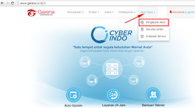 Cara Ganti Password Garena Indonesia