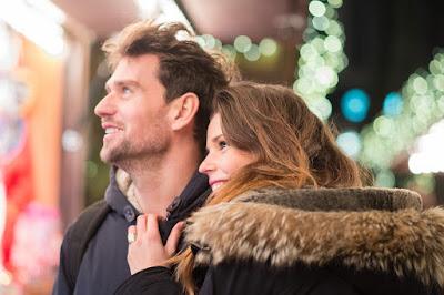 couple at christmas market, suffolk