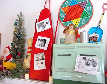 Christmas Vintage Toy Mantel 2013