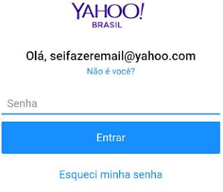 Senha para fazer Yahoo Mail