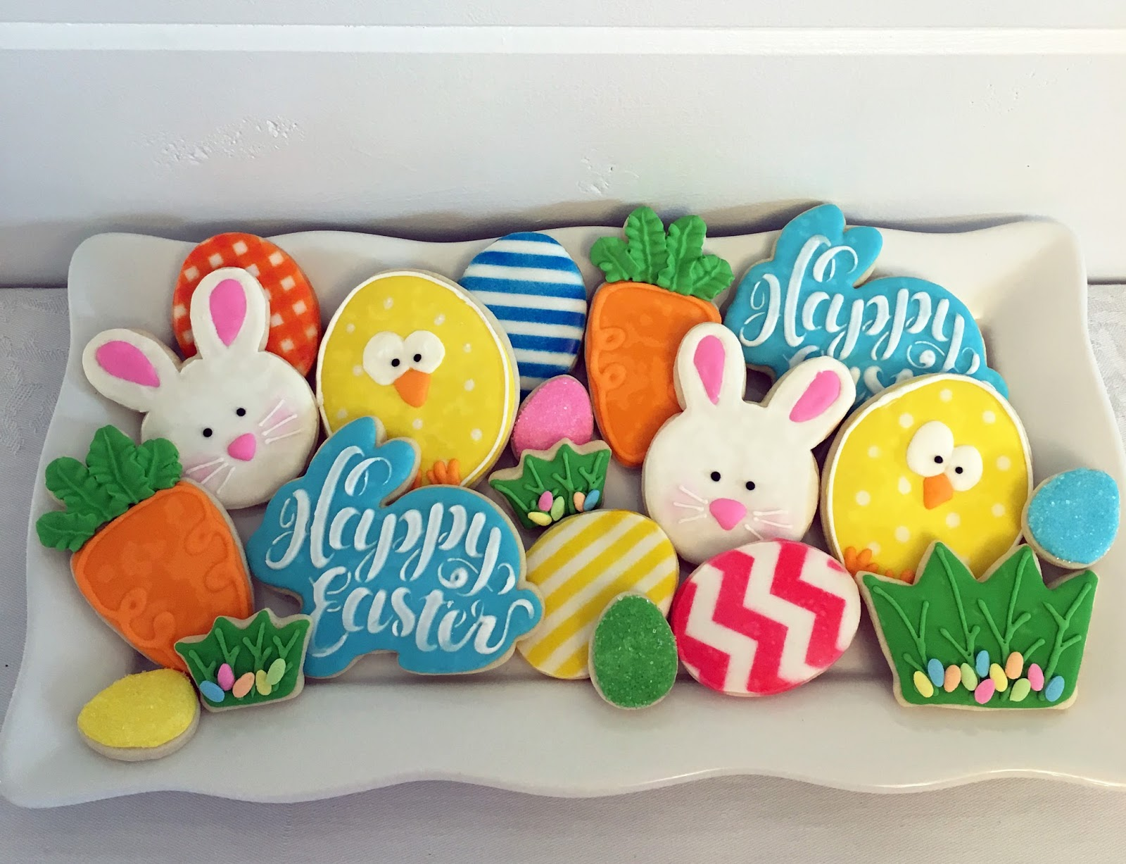 Sweet scarlet baking bright and lovely easter these decorated sugar cookies make the perfect easter gifts negle Images