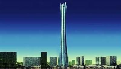 Gambar gedung Burj Al Alam tertinggi di dunia ke-10 dari Dubai Uni Emirate Arab
