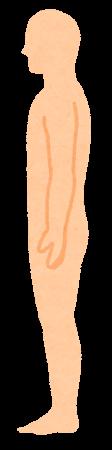 無地の人体のイラスト(男性・側面)