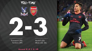 Crystal Palace vs Arsenal 2-3 Highlights