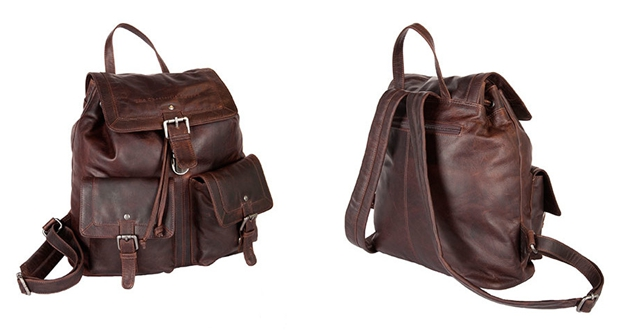 Large Brown 'Oswald' travelling backpacks for women from the Chesterfield Brand