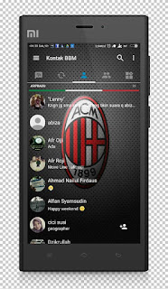 Download BBM Transparan Tema Ac Milan v3.1.0.13 APK