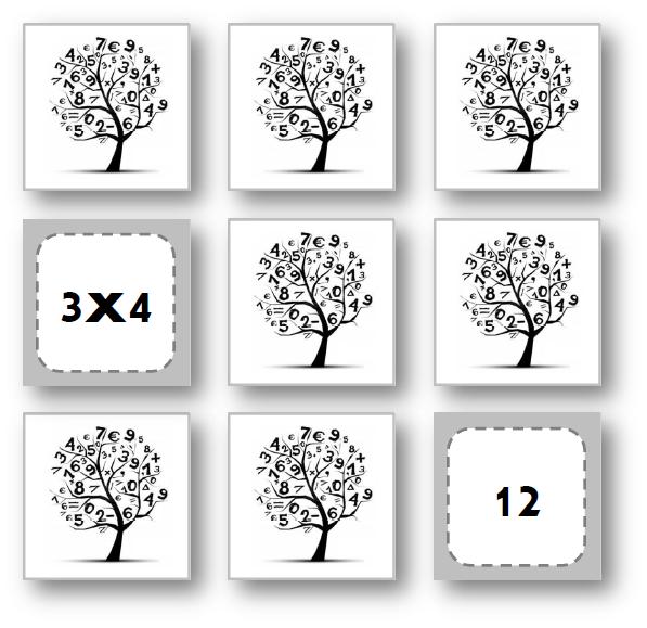 memory des tables de multiplication 2