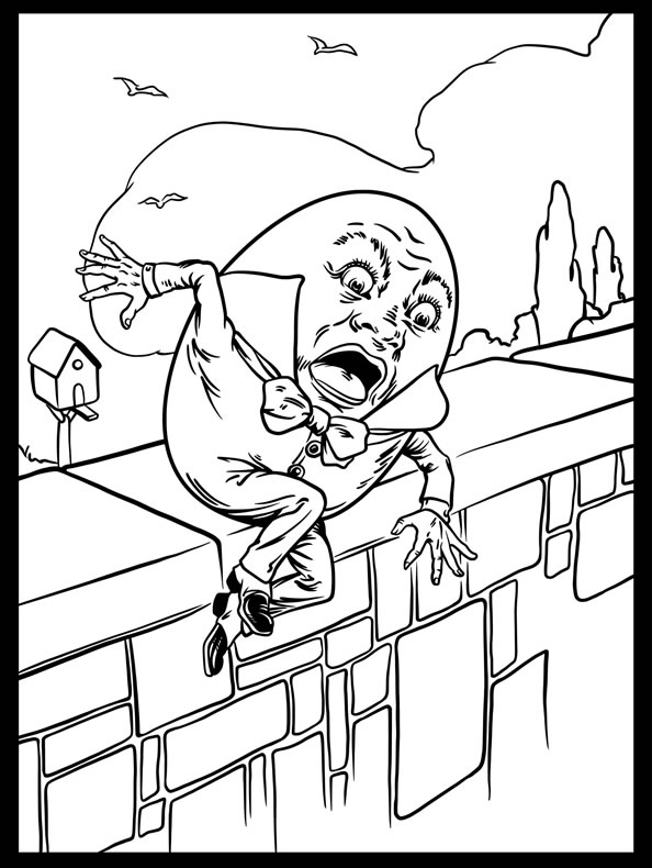 humpty dumpty coloring pages - photo#4