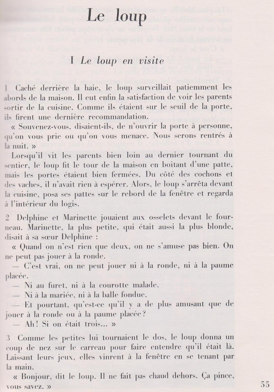école Références Marcel Aymé Le Loup