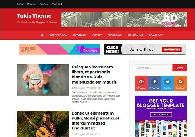 Takis Theme Free Blogger Template